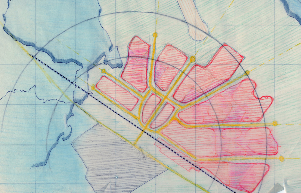 Otto Koenigsberger, draft town plan for Mithapur, Gurjarat, 1948