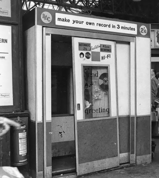 BAC Calibre Recording Booth, Waterloo Station, 1967