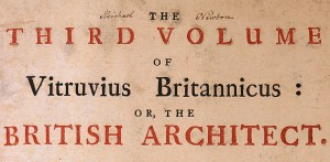 Title page with Michael Newton's signature, from Vitruvius Britannicus, Vol. 3, 1725