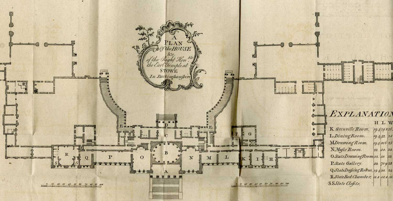 Aa Library 1777 Guide Book To Stowe Architectural
